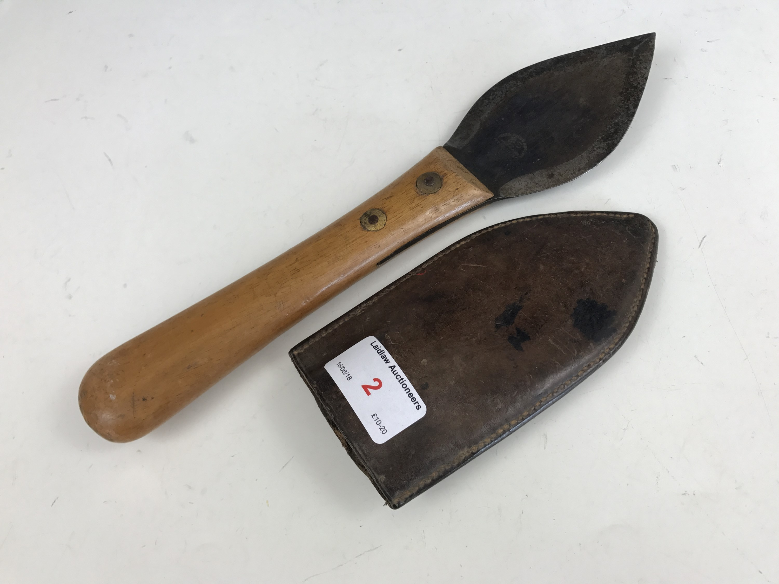 Lot 2 - A late 19th / early 20th Century wood carver's knife stamped Acier Fondu Anglais Peugeot Freres,
