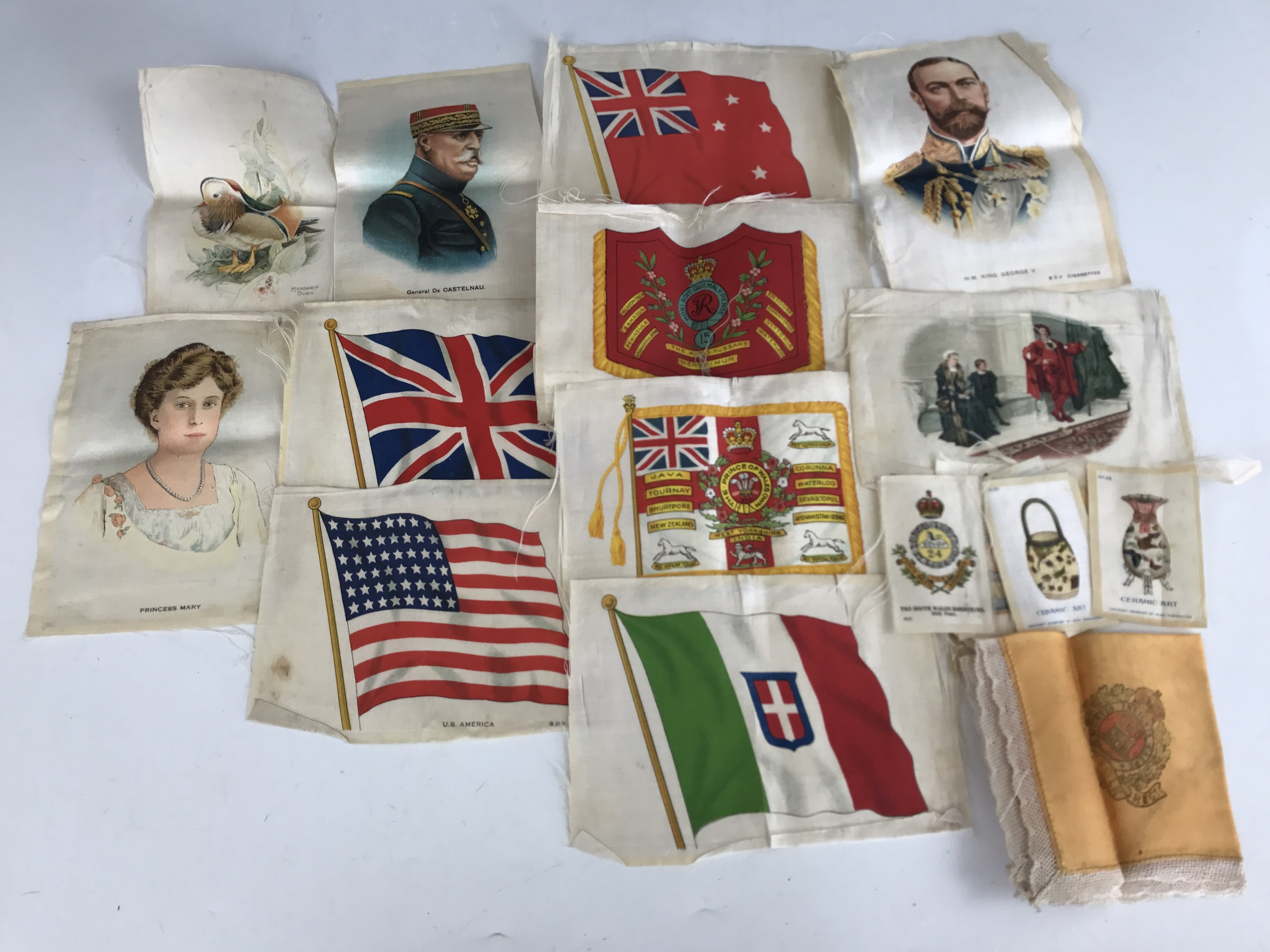 Lot 15 - A quantity of early 20th Century Kensitas-type cigarette silks