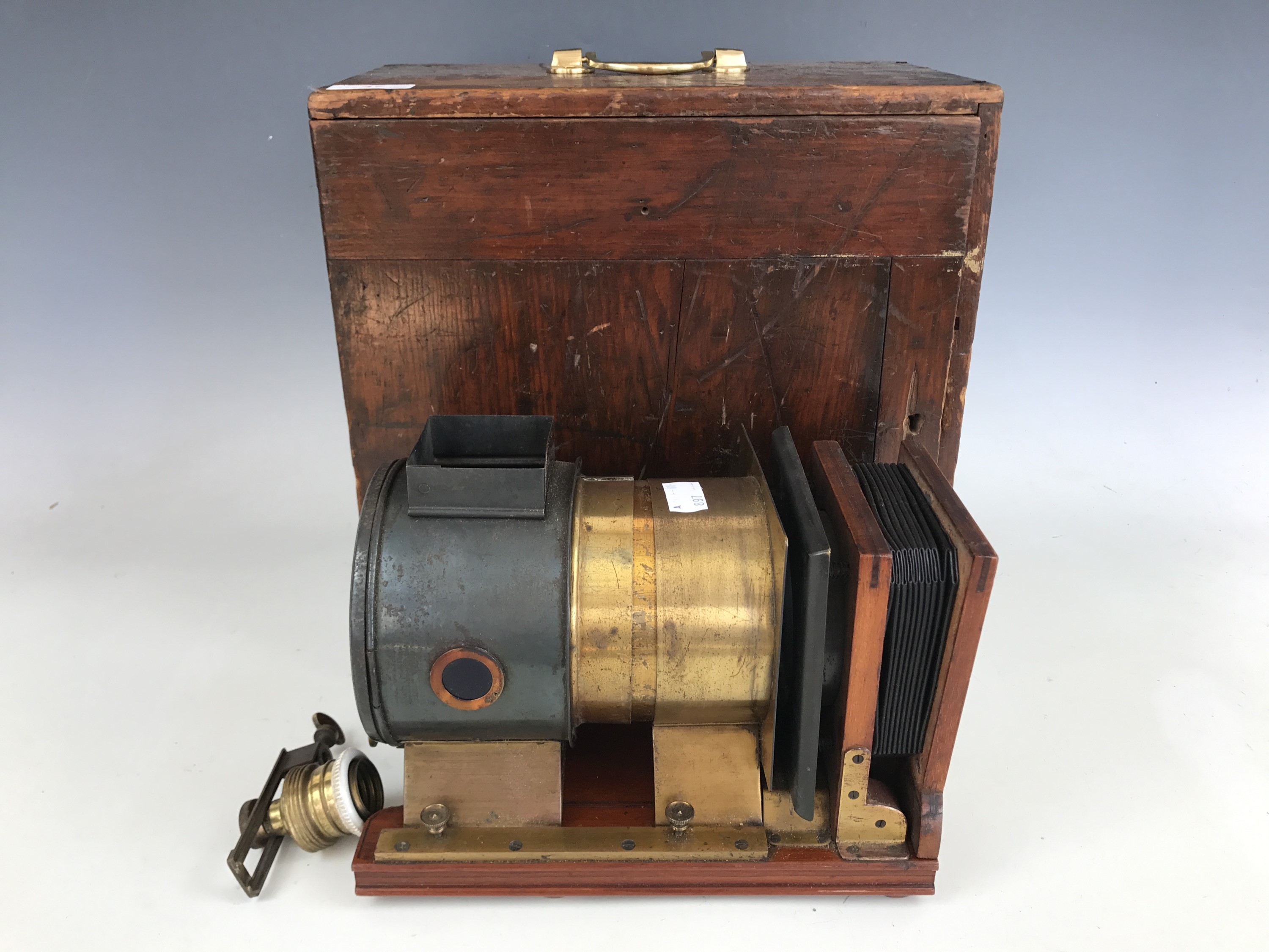 Lot 47 - A Victorian magic lantern