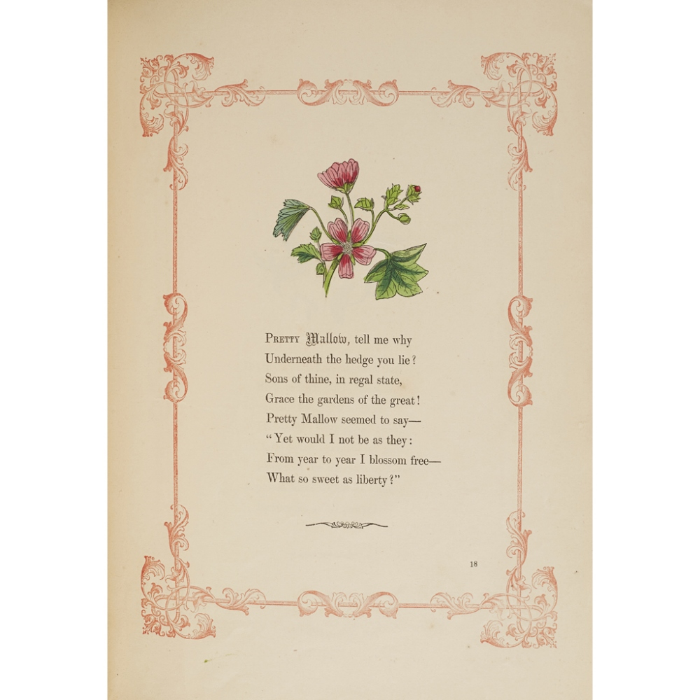 THE WILD FLOWERS OF THE ALPHABETA POEM FOR CHILDREN London: Ackermann and Co., 1858. 4to, hand- - Image 3 of 3