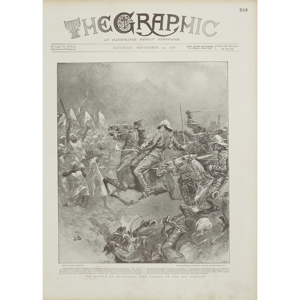 ILLUSTRATED LONDON NEWS & THE GRAPHICA UNIQUE COLLECTION OF 300 ORIGINAL ILLUSTRATIONS both full- - Image 2 of 3
