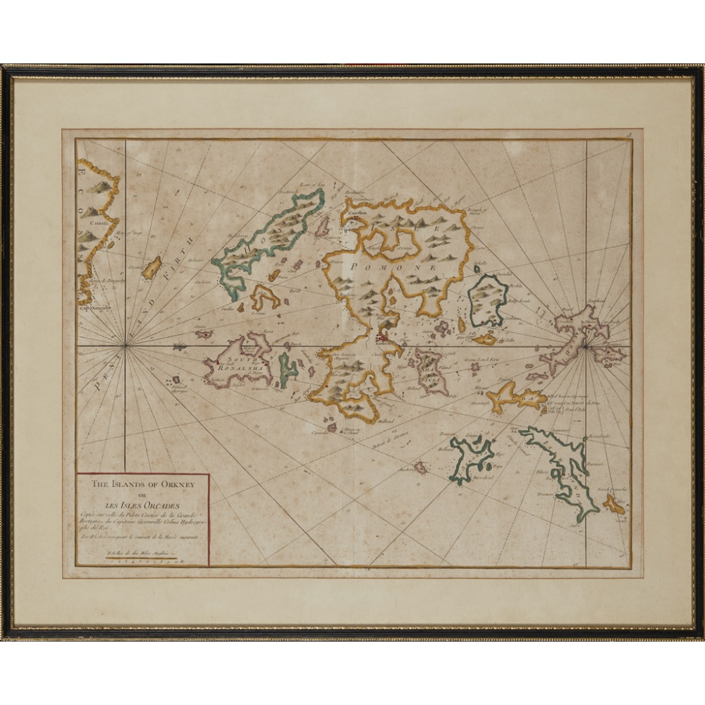 Lot 35 - COLLINS, GREENVILLETHE EAST COAST OF SCOTLAND WITH THE ISLES OF ORKNEY AND SHETLAND [London: 1693,