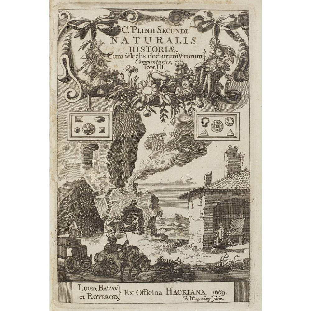 Lot 91 - VELLUM BINDINGS - PLINIUS SECUNDUS, CAIUSNATURALIS HISTORIAE Leiden & Rotterdam: Hackios, 1668-69. 3