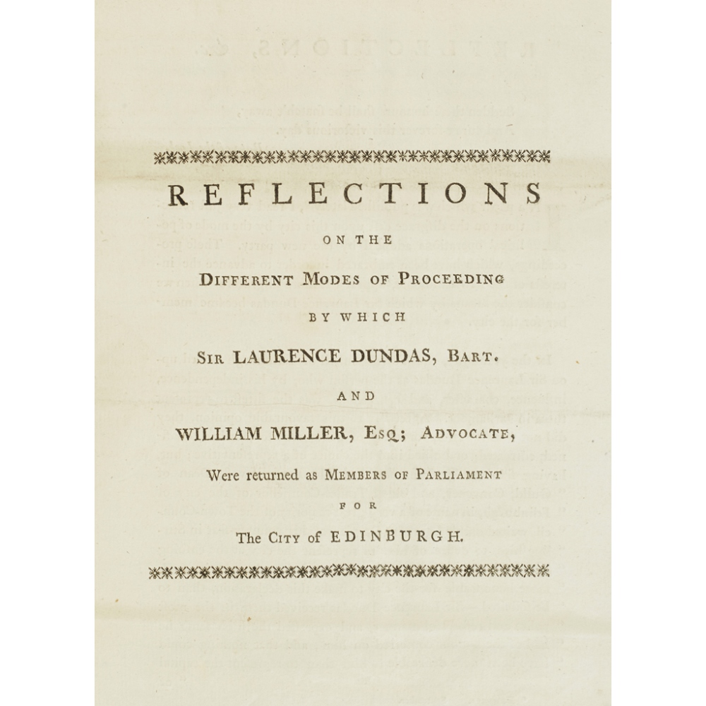 A COLLECTION OF PAPERS REGARDING THE EDINBURGH ELECTION, 1780(MANUSCRIPT INDEX AT THE FRONT), 27 - Image 2 of 3