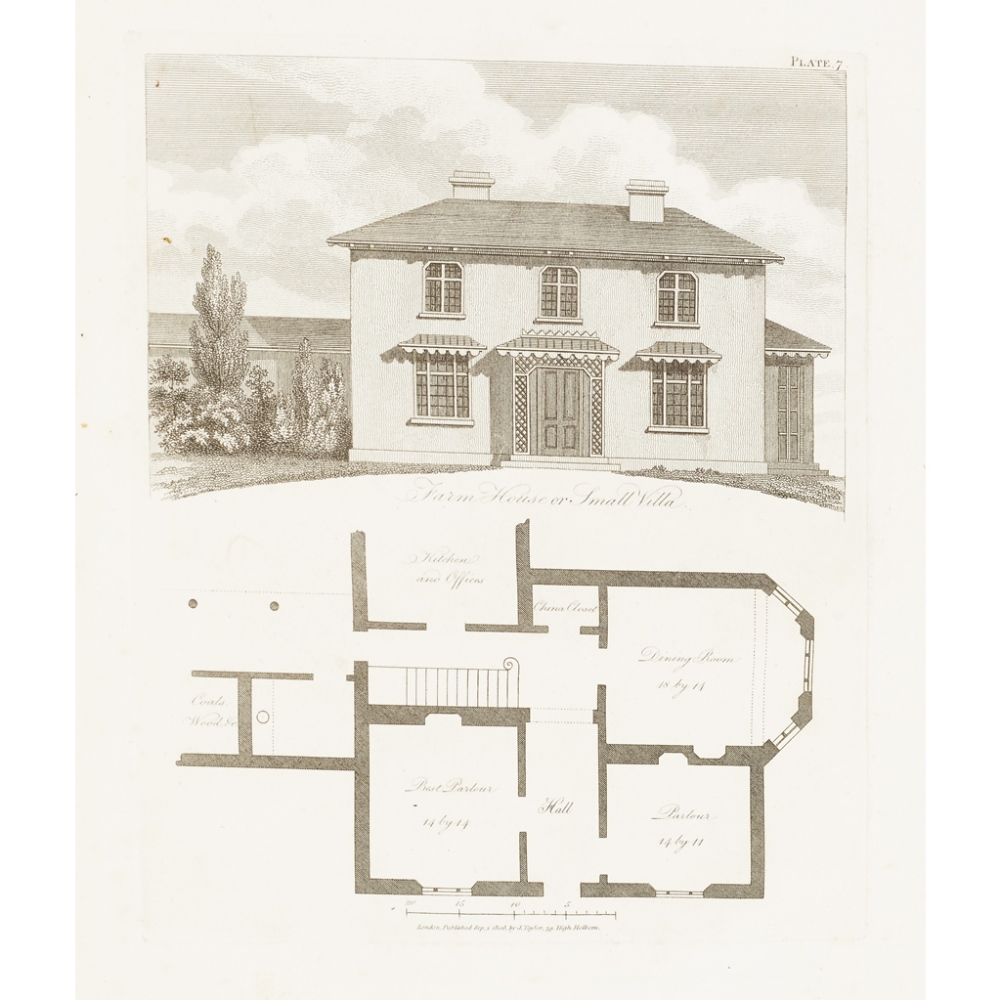 Lot 20 - LUGAR, ROBERTTHE COUNTRY GENTLEMAN'S ARCHITECT London: J. Taylor, 1823. Second edition, 4to,