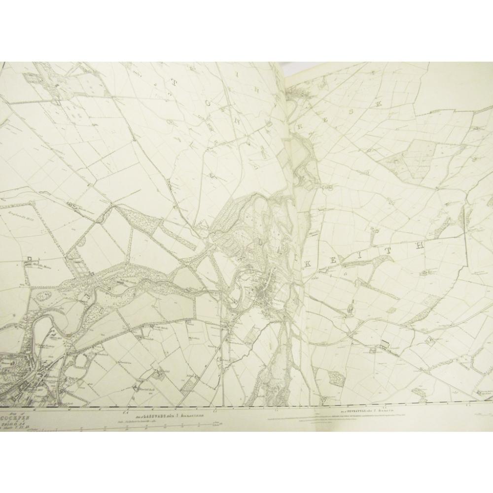 Lot 46 - ORDNANCE SURVEY OF EDINBURGHSHIREFINELY BOUND SIX INCH FIRST EDITION MAP OF THE EDINBURGH AREA