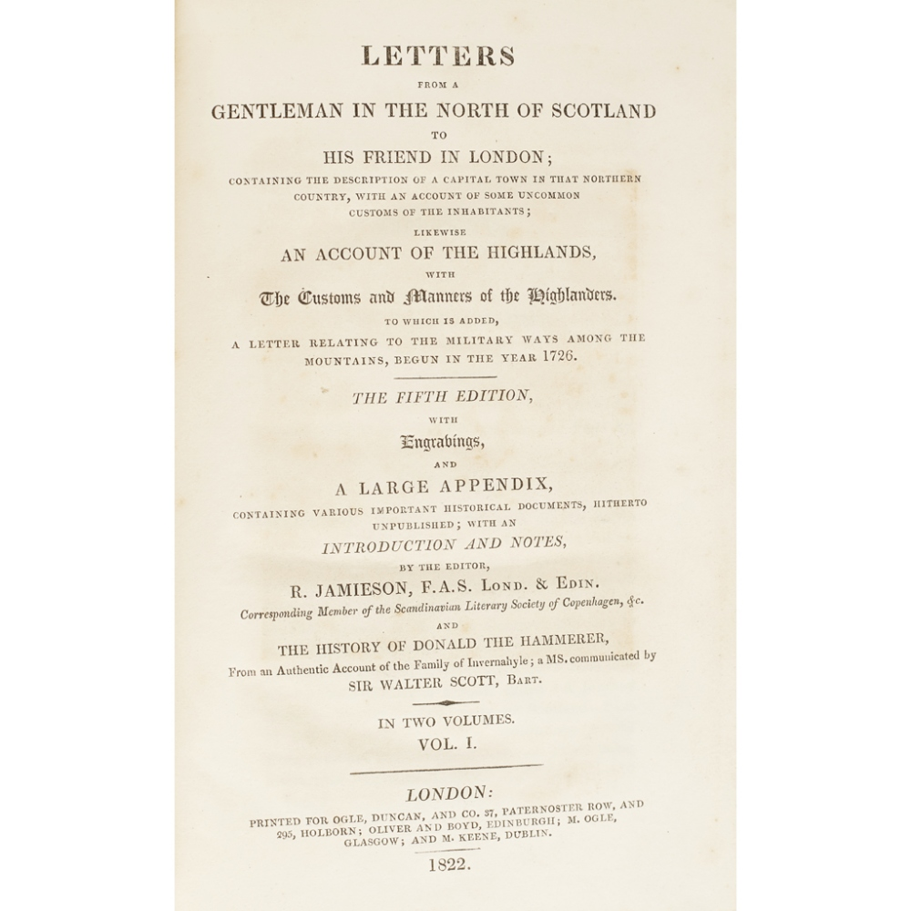 SCOTLAND4 VOLUMES, COMPRISING HOGG, JAMES The Jacobite Relics of Scotland. Edinburgh: W. - Image 2 of 4