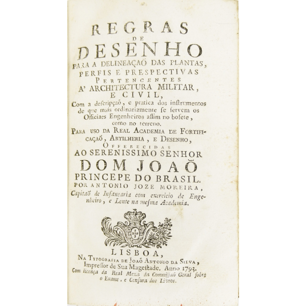 Lot 78 - MOREIRA, ANTÓNIO JOSÉREGRAS DE DESENHO PARA A DELINEAÇAO DAS PLANTAS PERFIS E PRESPECTIVAS