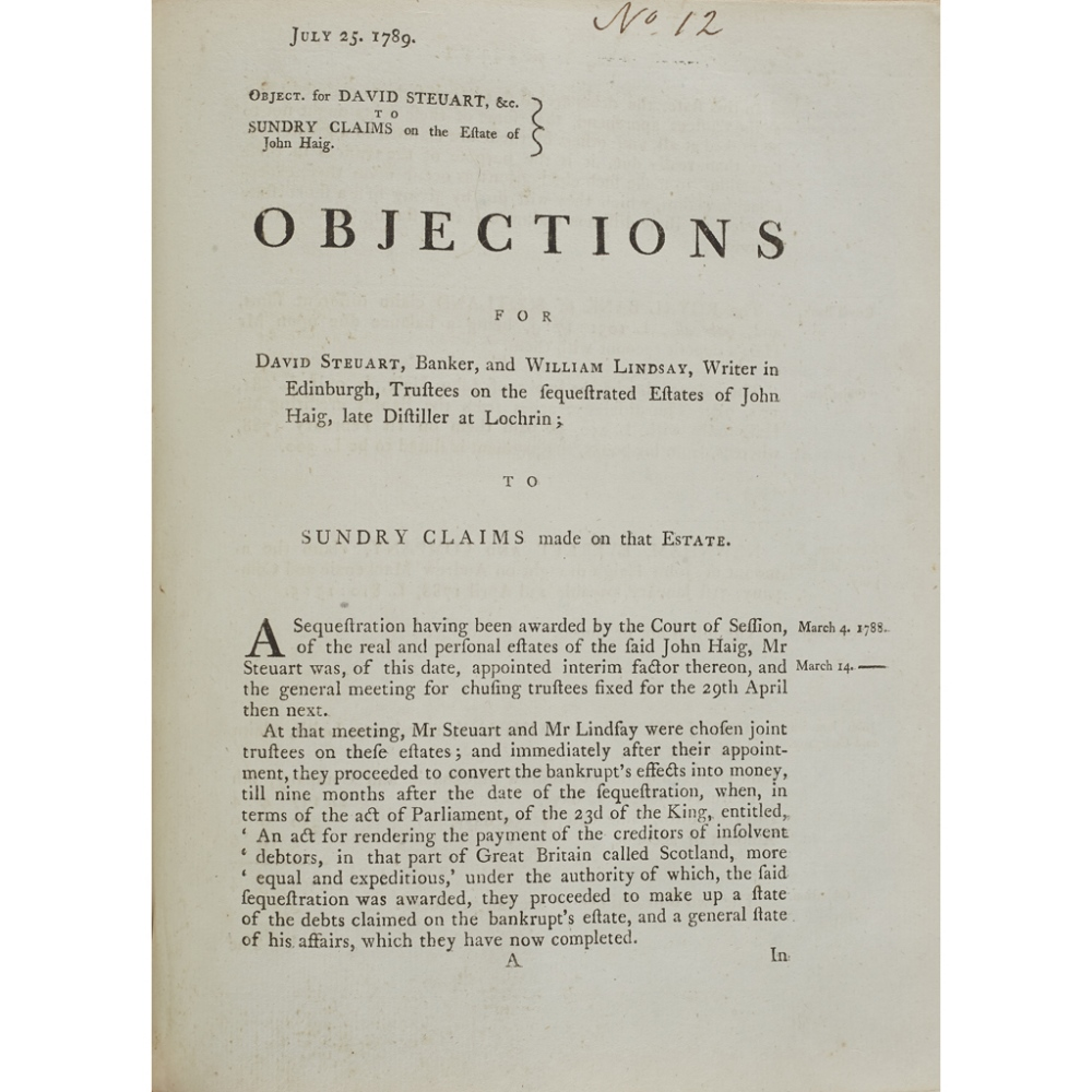 SCOTTISH PAMPHLETS, A COLLECTIONOF 27 ITEMS, COMPRISING 1) Information for Sir John Anstruther of - Image 4 of 4