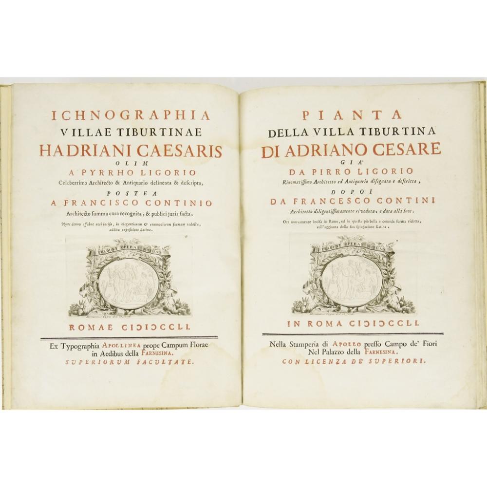Lot 76 - LIGORIO, PIRROICHNOGRAPHIA VILLÆ TIBURTINÆ HADRIANI CÆSARIS olim a Pyrrho Ligorio delineata et