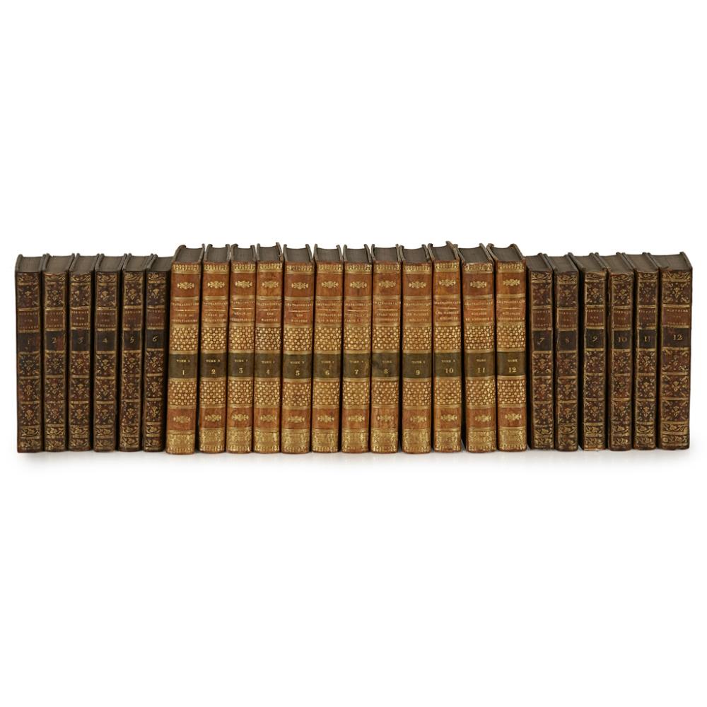 FRENCH LITERATURE, 2 SETS, INCLUDING COUPÉ, J.M.L.HISTOIRE UNIVERSELLE DES THÉATRES DE TOUTES LES