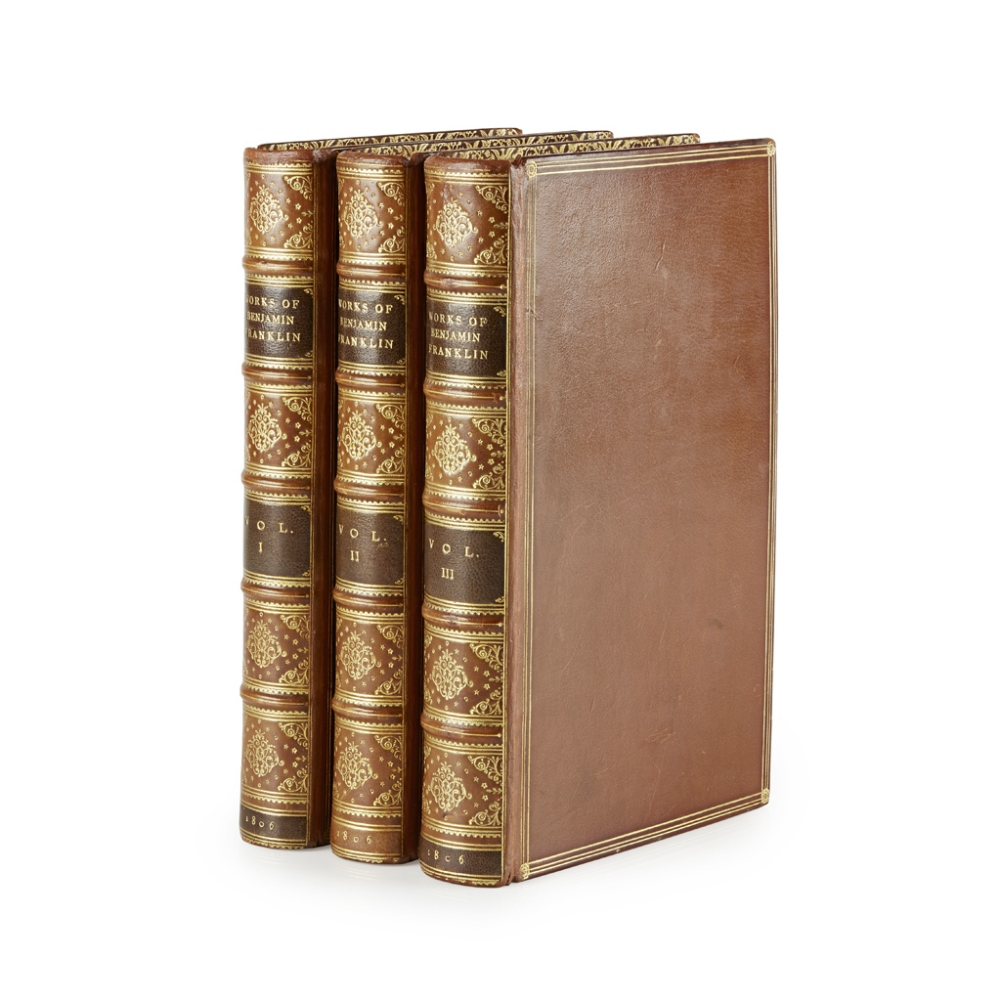 Lot 104 - FRANKLIN, BENJAMIN THE COMPLETE WORKS IN PHILOSOPHY, POLITICS AND MORALS OF THE