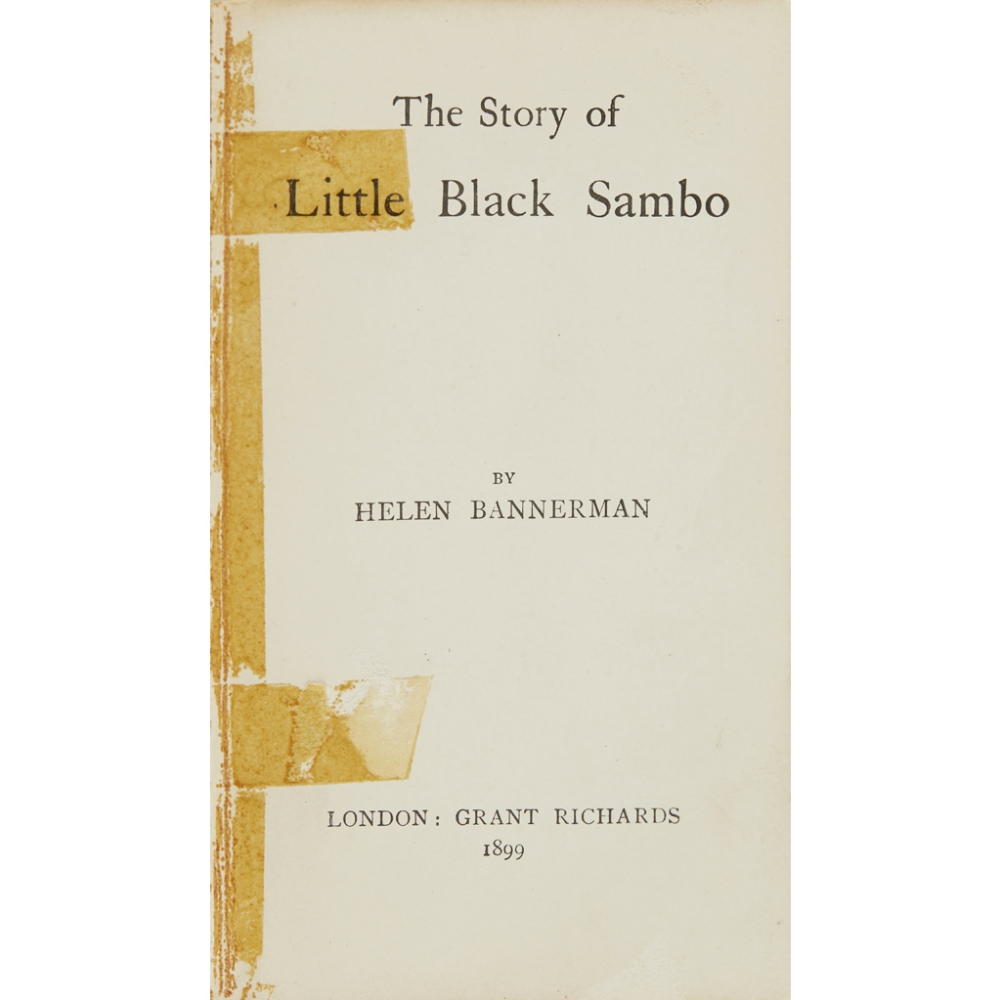 Lot 53 - A COLLECTION OF 5 CHILDREN'S BOOKSINCLUDING BANNERMAN, HELEN The Story of Little Black Sambo.