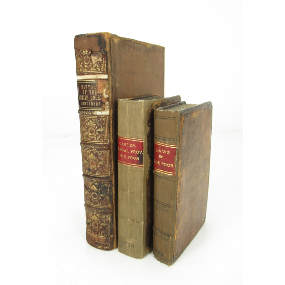 POOR RELIEF & LAWS, 3 WORKSINCLUDING THE LAWS CONCERNING THE POOR London: Arthur Collins, 1708.