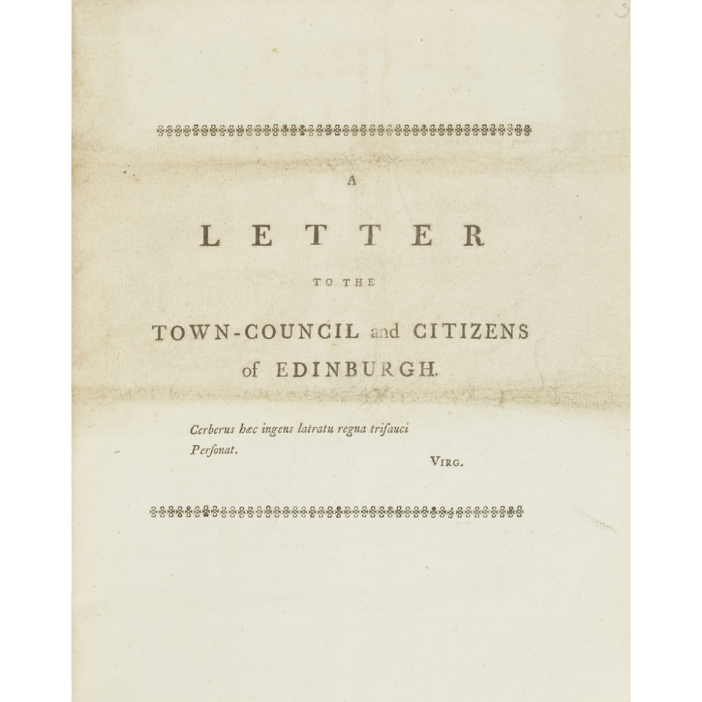 A COLLECTION OF PAPERS REGARDING THE EDINBURGH ELECTION, 1780(MANUSCRIPT INDEX AT THE FRONT), 27