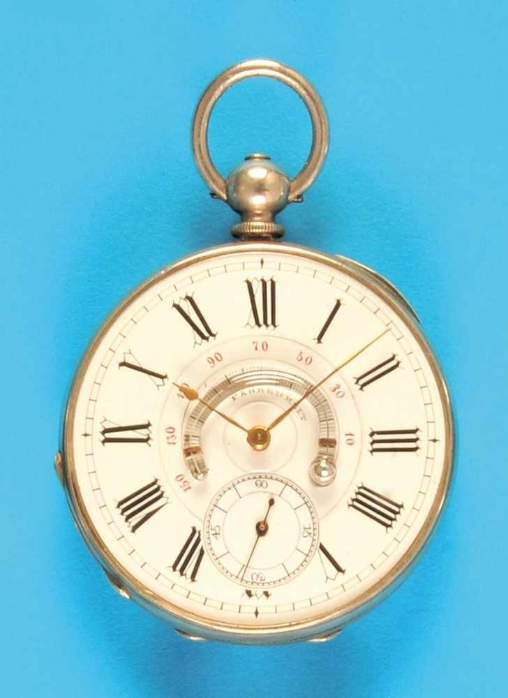 Silver pocket watch, dial with temperature informationSilbertaschenuhr Zifferblatt mit Thermometer-