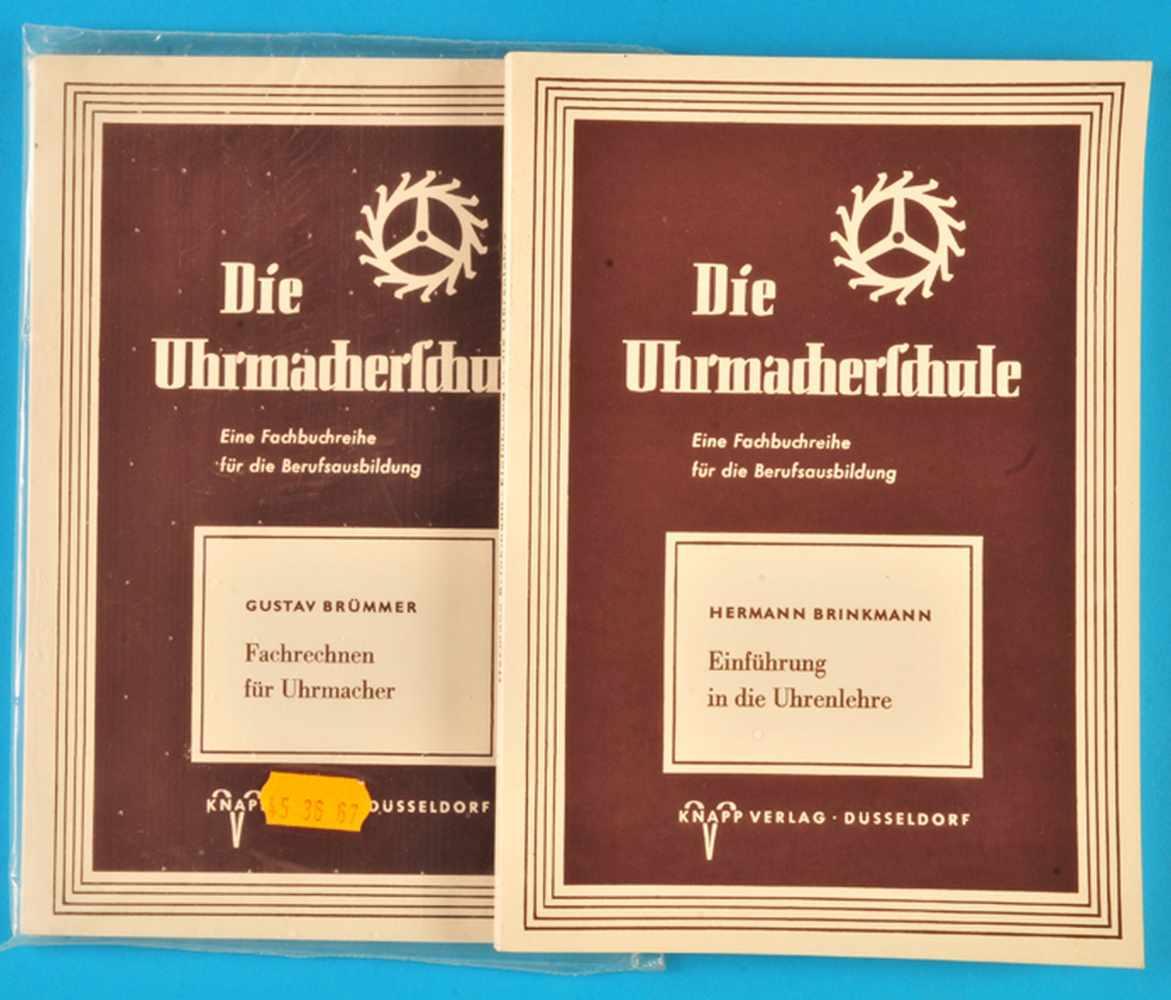 """2 Hefte """"Die Uhrmacherschule"""", Hermann Brinkmann, Einführung in die Uhrenlehre, 19772 Hefte """"Die"""