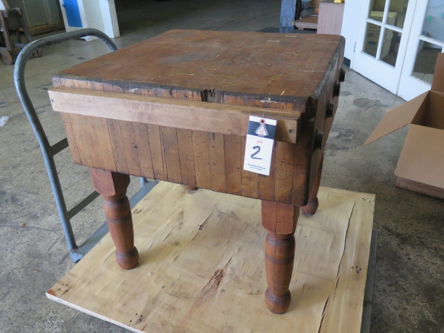Lot 2 - Butcher Block Carving Table