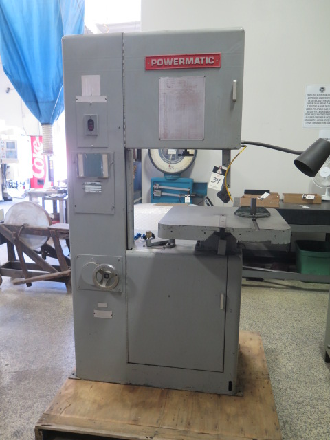 "Lot 34 - Powermatic mdl. 87 20"" Vertical Band Saw s/n 487301 w/ 24"" x 24"" Miter Table"