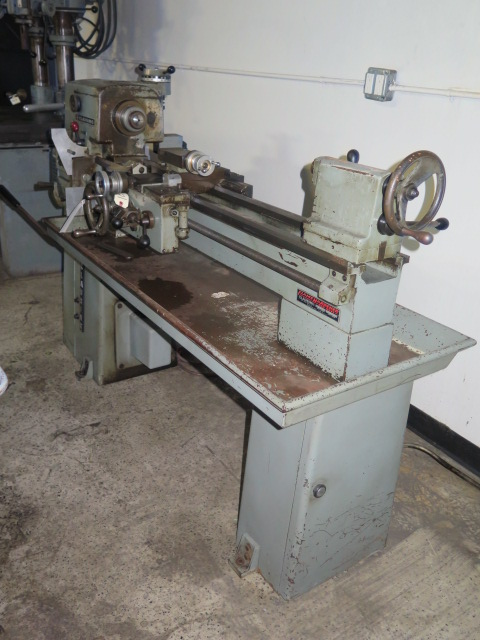 "Lot 44 - Clausing mdl. 5913 12"" x 38"" Lathe s/n 501040 w/ 52-2000 RPM, Inch Threading, Tailstock, 5C Collet"