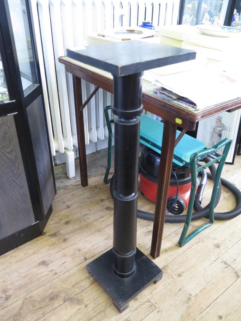 Lot 18A - A wood pedestal stand, 90cm