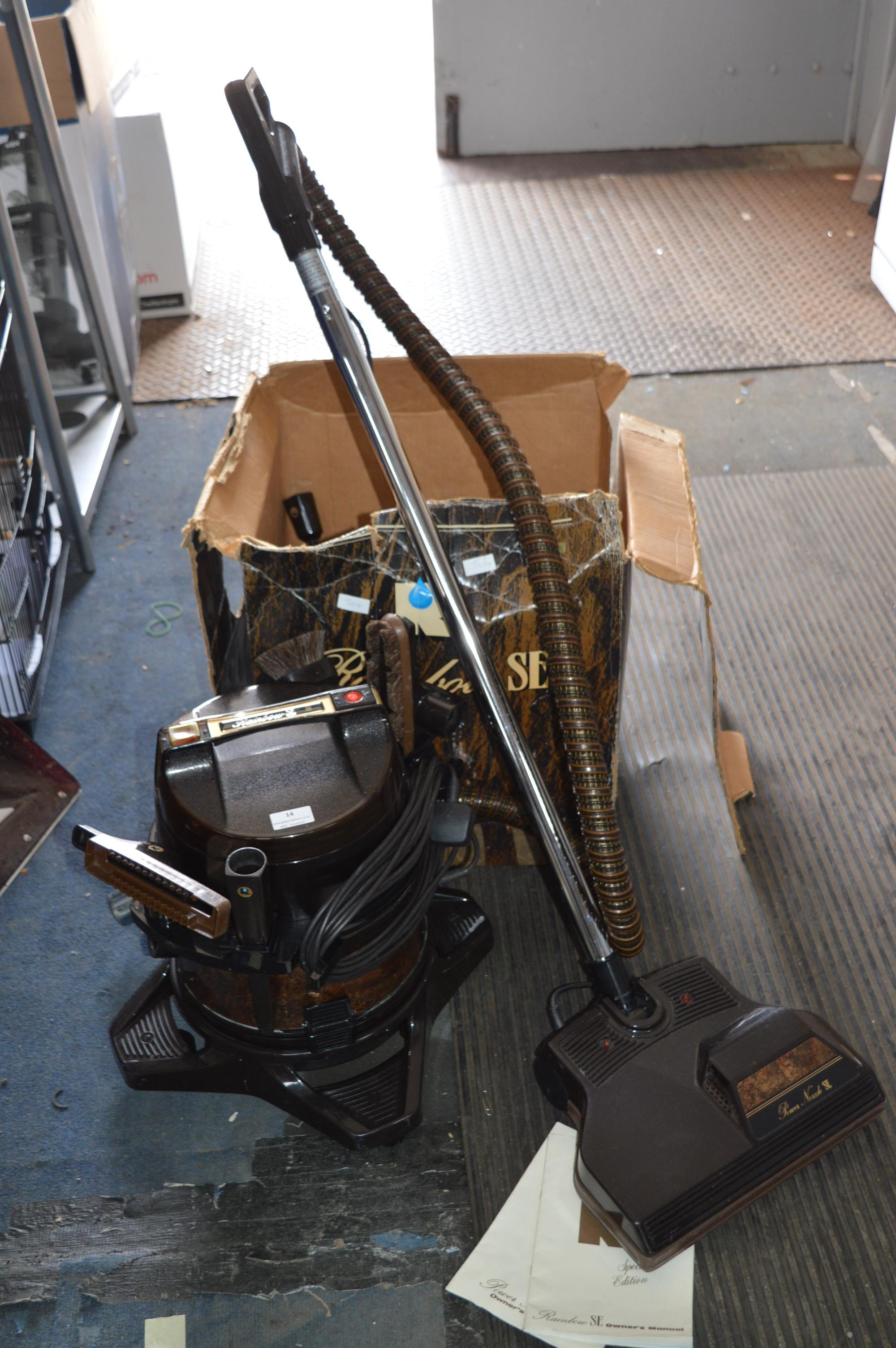 Lot 14 - Rainbow SE Vacuum Cleaner with Accessories (Boxed)