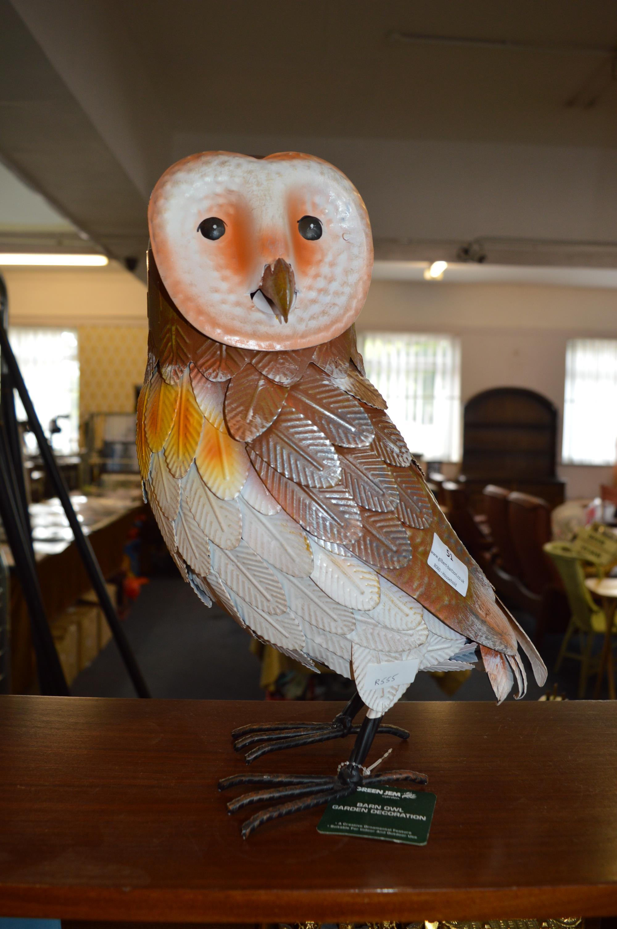 Lot 51 - Green Gen Barn Owl Garden Decoration