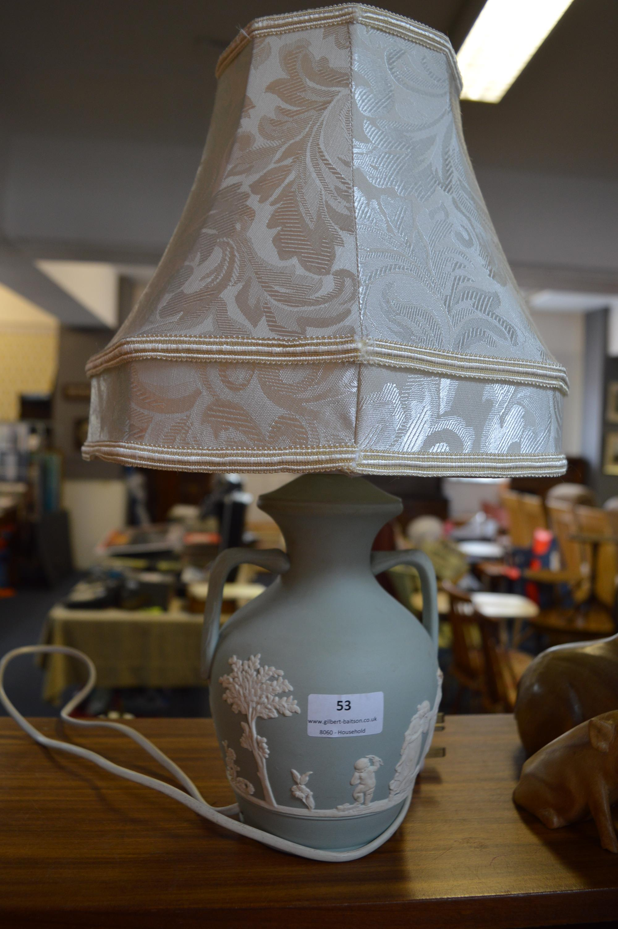 Lot 53 - Wedgwood Table Lamp with Shade