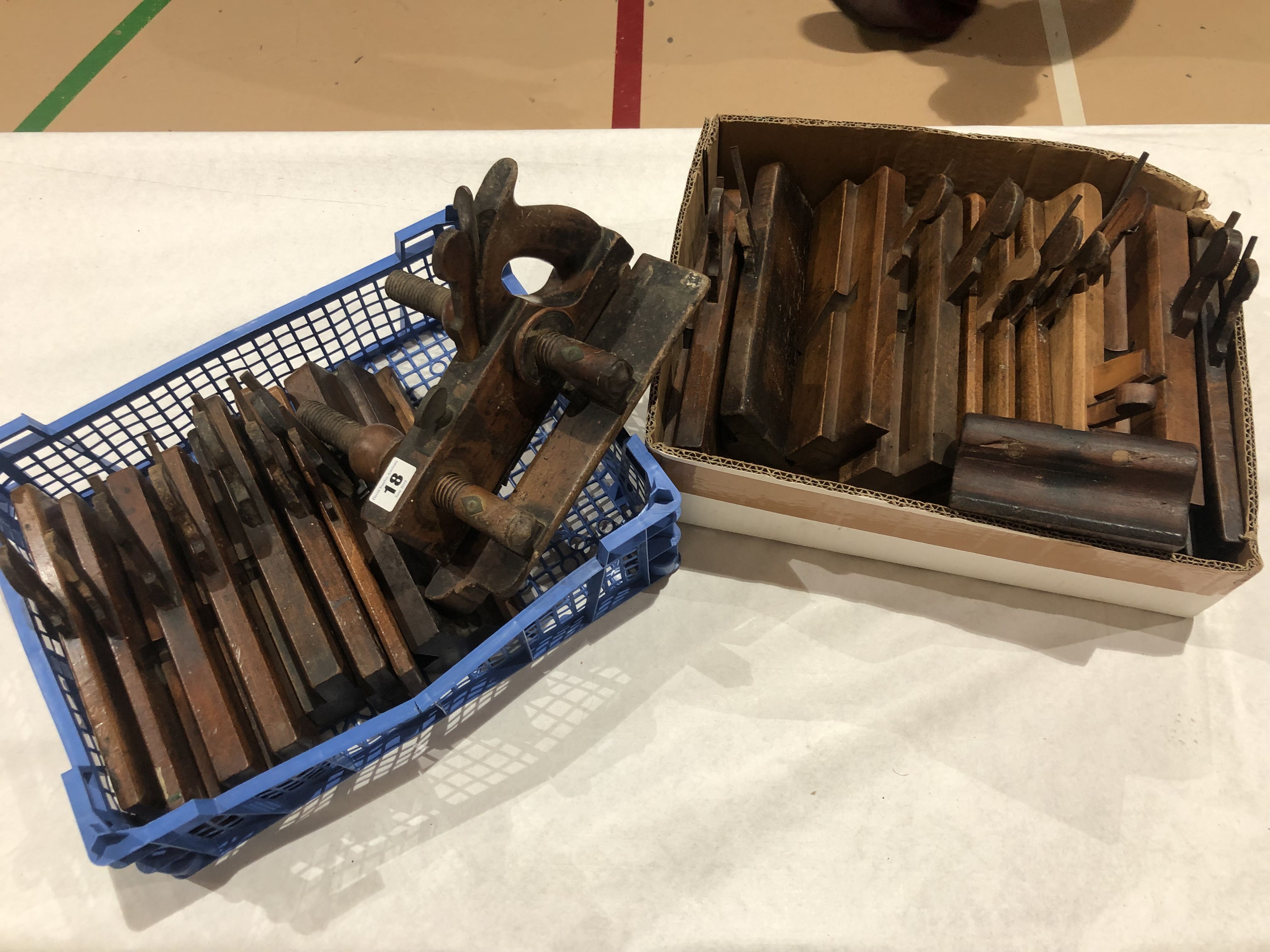 Lot 18 - A plough and 18 moulders G-