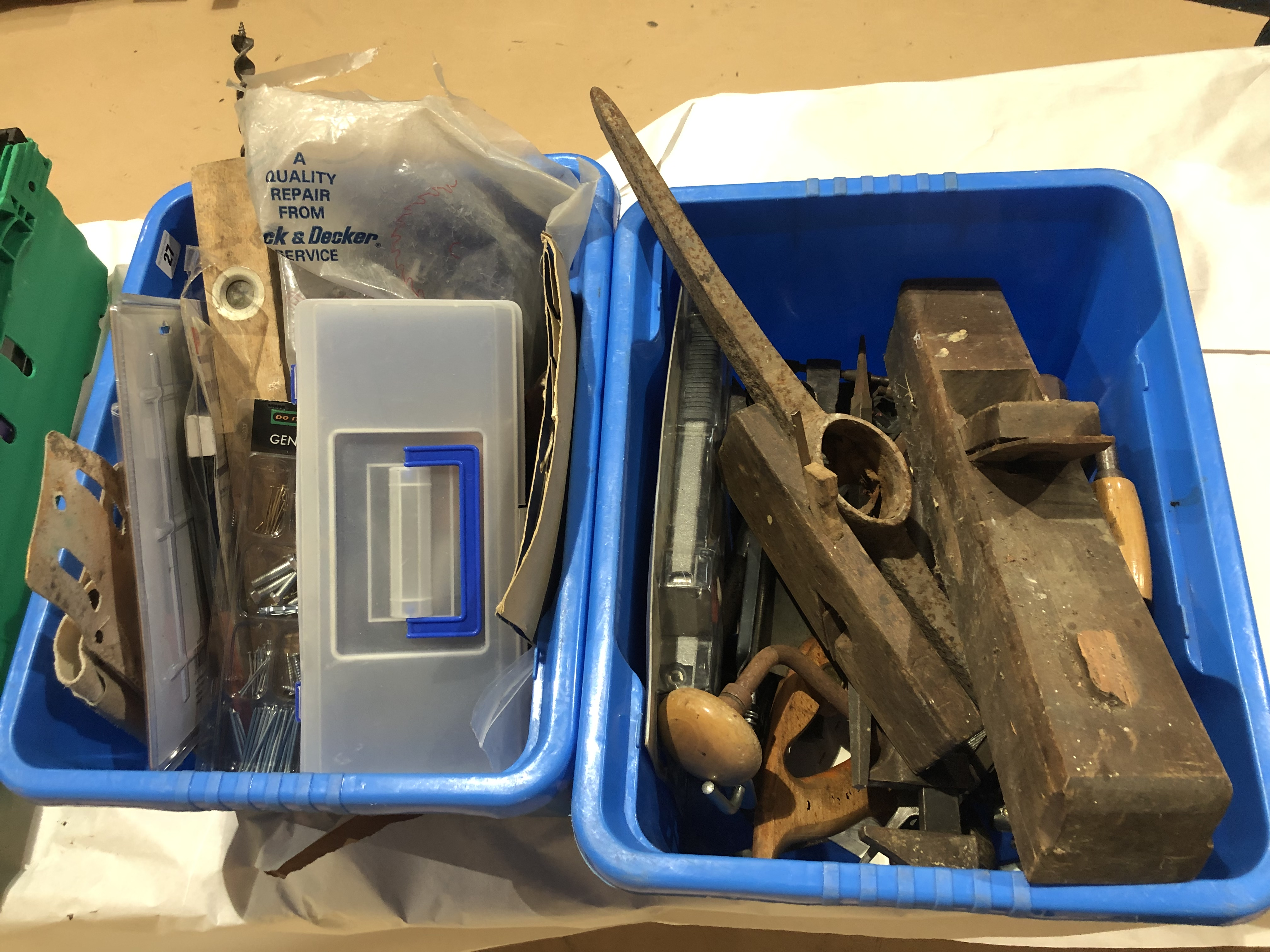 Lot 27 - Two boxes of tools G