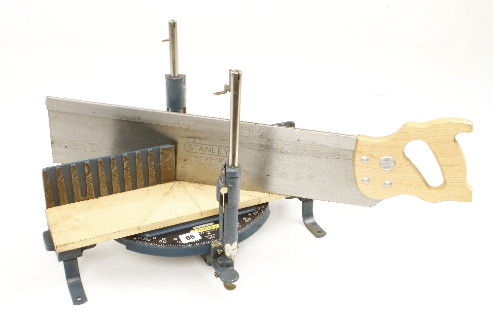 Lot 66 - An unused STANLEY mitre box with saw N