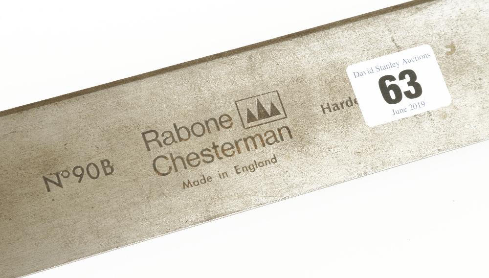 Lot 63 - A 1m steel straight edge by RABONE No 90B G++