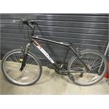 Ammaco black and red gents bike, no seat