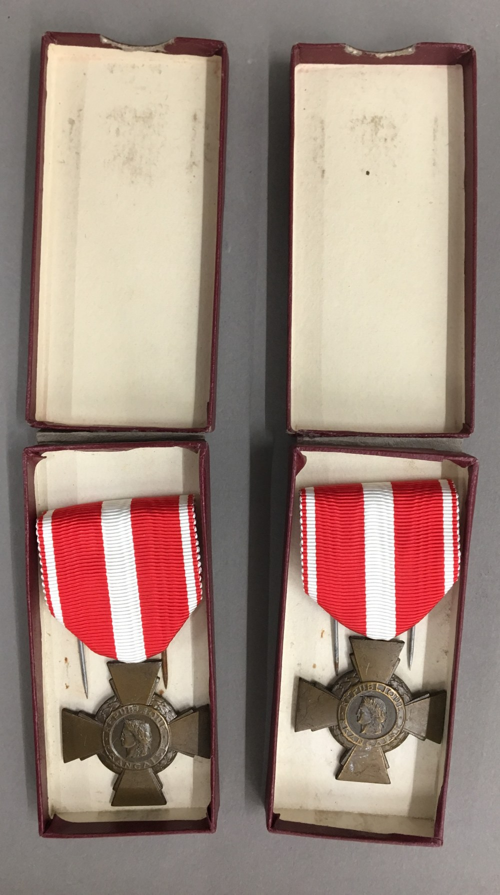 Two French Republic medals