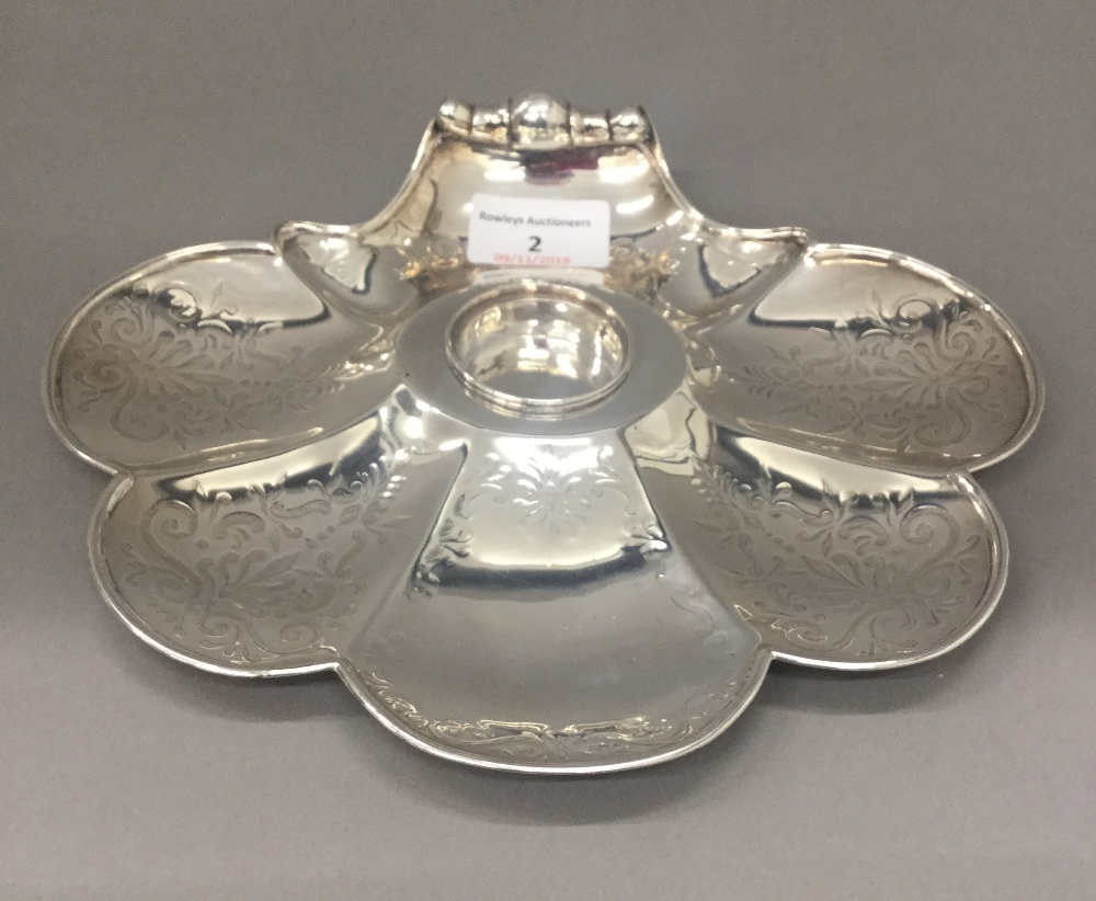 Lot 2 - A Victorian silver desk stand (9 troy ounces)