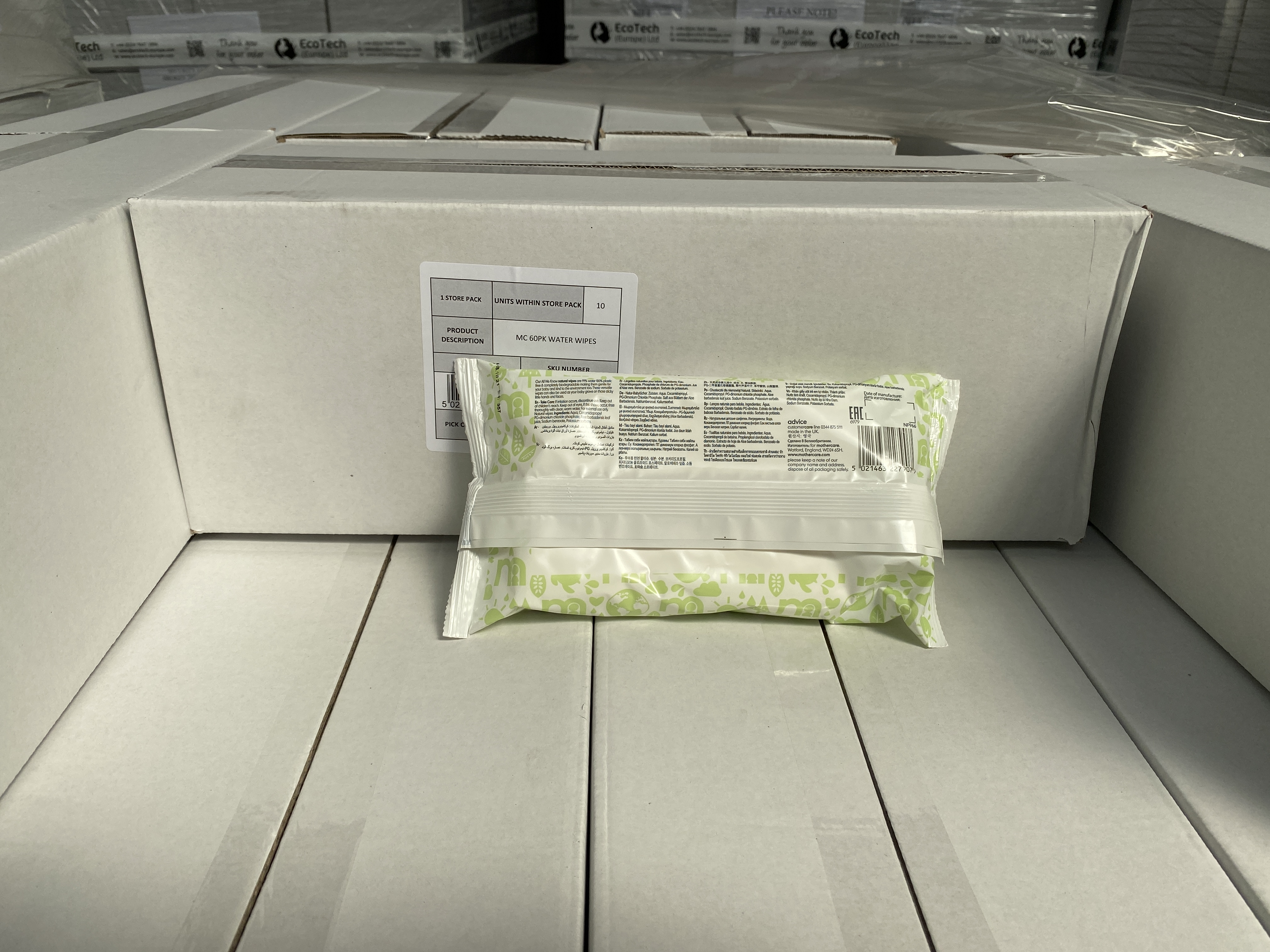 MOTHERCARE natural baby wipes. 100 x 60 pack. RRP £299 PLUS - Image 2 of 2