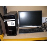 Zoostorm Tower PERSONAL COMPUTER with monitor, mouse, and keyboard