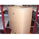 "Beech effect locking STORAGE CUPBOARD 38"" x 21"" x 48"" High"