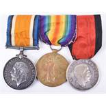Great War Medal Pair and Italian 1915 Avezzano Earthquake Medal