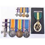 Outstanding Great War Military Cross & Bar Medal Group of Five Awarded to Captain H M Kitchen 36th B