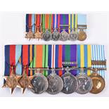 British Officers WW2, Malaya and Korea Campaign Medal Group of Seven Middlesex / Queens Regiment
