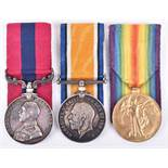 Great War Distinguished Conduct Medal Group of Three 17th Battalion Welsh Regiment, Decorated for Ga
