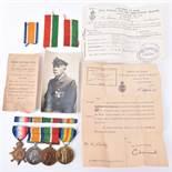 WW1 Mercantile Marine Merchant Fleet Auxiliary Medal Group of Four