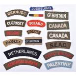 Selection of WW2 Allied Nationality Shoulder Titles