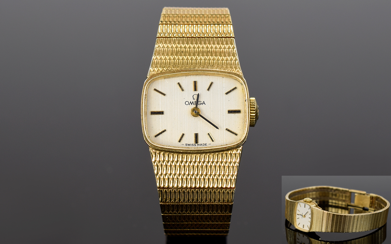 Lot 76 - Ladies - Omega 9ct Gold Wrist Watch with