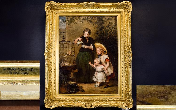 Lot 933 - Robert Crozier Jnr 1815 - 1891.- A Fine
