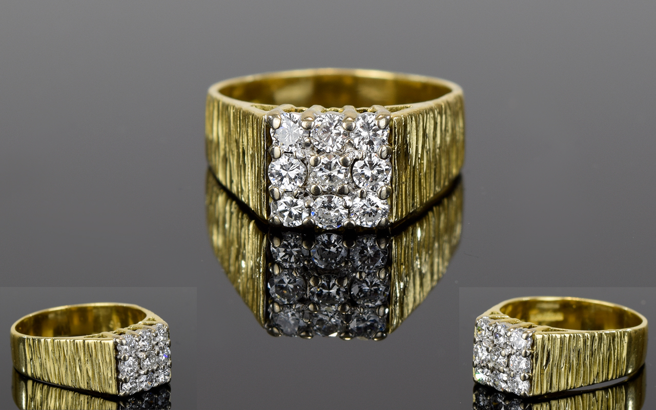 Lot 71 - 18ct Yellow Gold Nice Quality Diamond Se