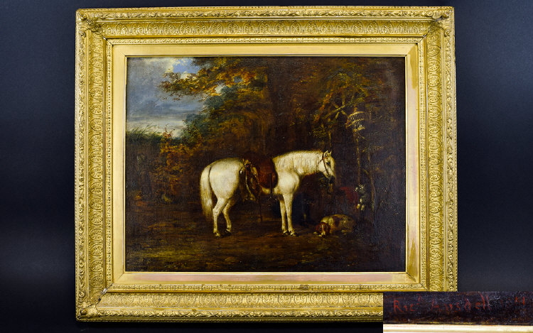 Lot 981 - Equestrian Interest 19th Century Oil On