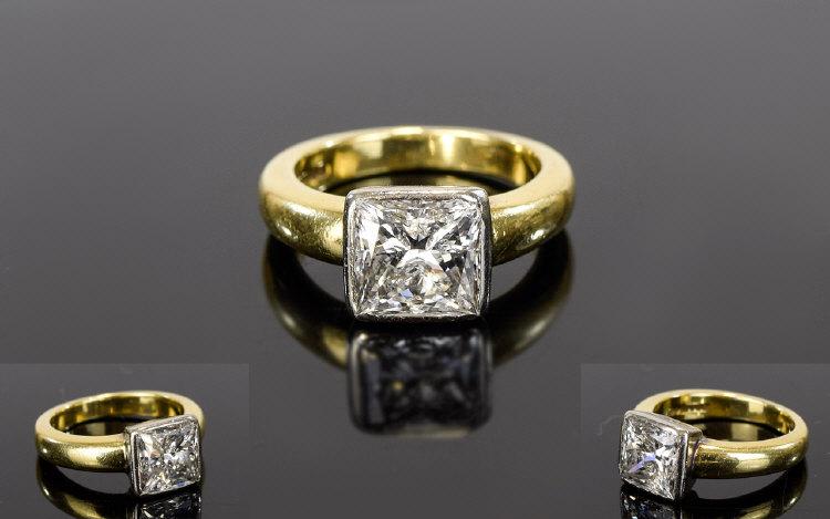 Lot 115 - Ladies 18ct Single Stone Diamond Ring Th