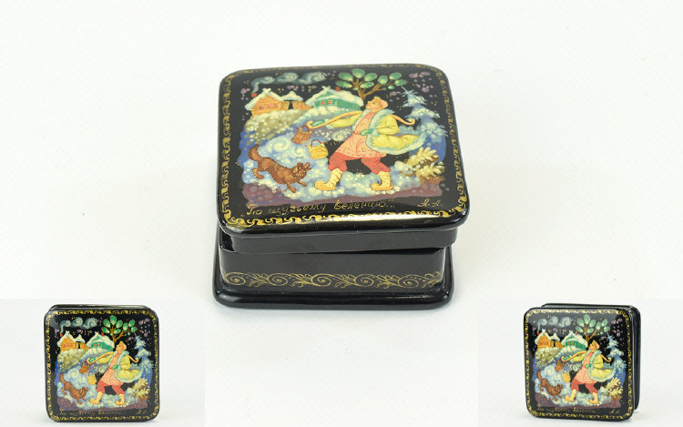 """Lot 366 - """"To The Well"""" - Square Russian Lacquer B"""